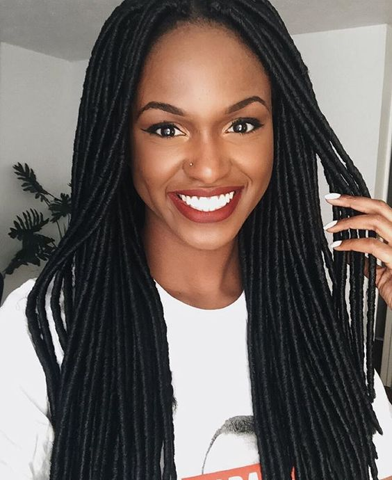 Faux locs, Locs and Black girls on Pinterest