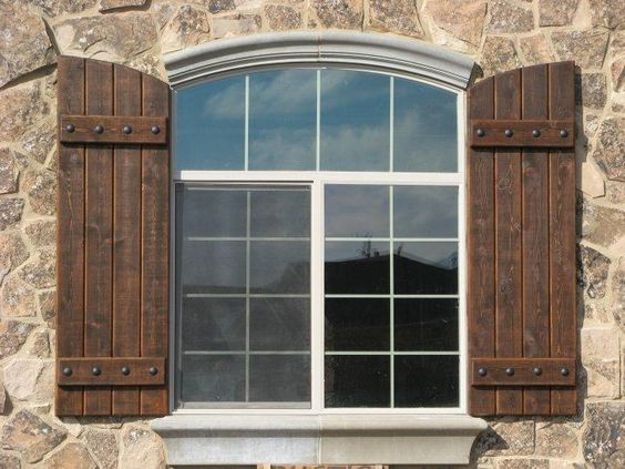 Rustic shutters rustic shutters custom exterior - Exterior wooden shutters for windows ...
