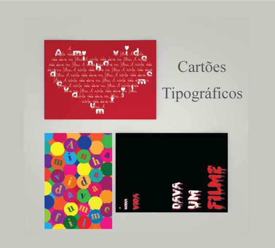 """Confira meu projeto do @Behance: """"Cartões Tipográficos // Typographic posters""""…"""