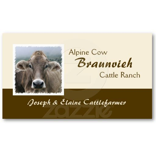 Braunvieh beef business card.Price varies according to size, qty and card stock.