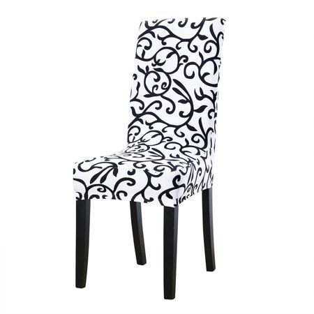 Piccocasa Stretchy Spandex Dining Chair Covers Slipcover Set Of 4