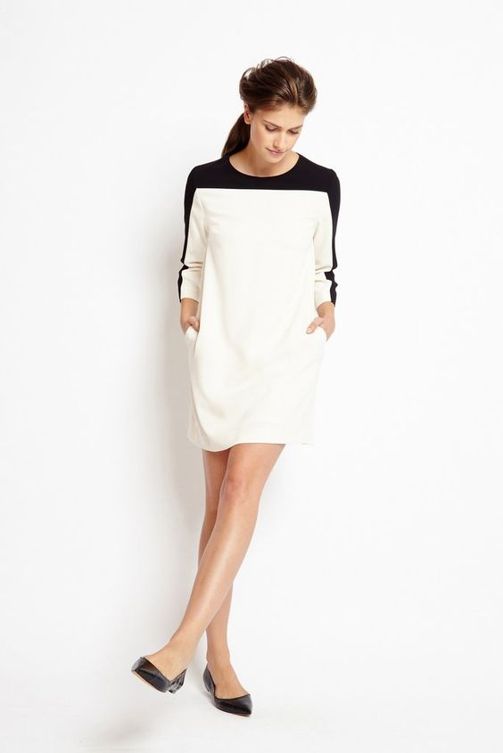 Of Mercer Stanton Dress | Cream | Front