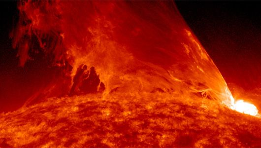 M3.6 Class solar flare on Feb. 24, 2011 during a 90-minute sun storm