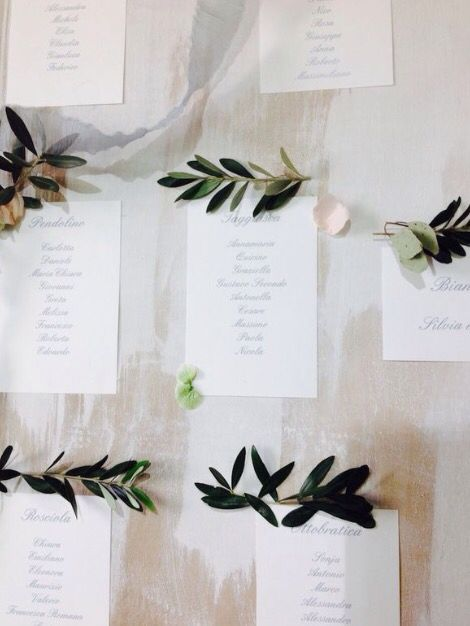 Olive leaves for the wedding tableau / rami di ulivo nozze