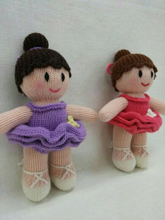 Lovely Knitted Ballerina Doll knitted dolls by ...