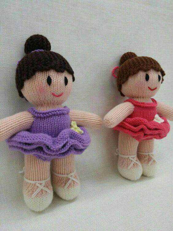 Knitting Pattern Ballerina Doll : Lovely Knitted Ballerina Doll knitted dolls by ...