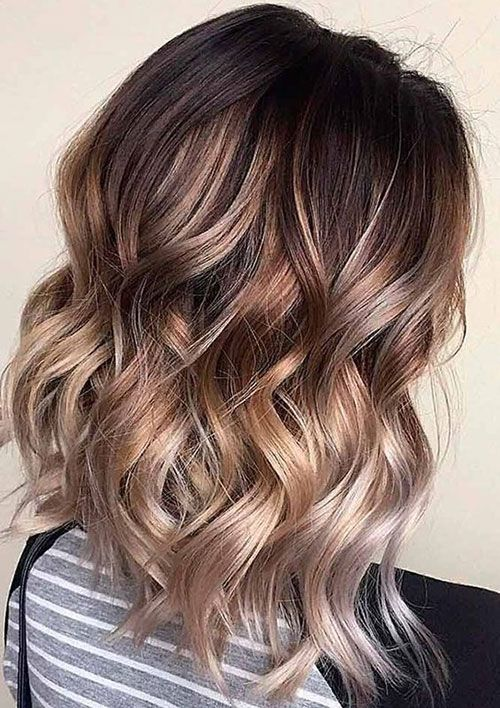 13 Ombre Medium Wavy Hairstyle Hair Styles Brown Ombre Hair Medium Length Wavy Hair
