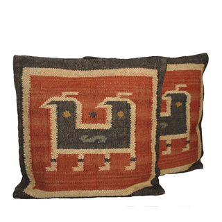 Tribal Indo Kilim Wool/Jute Pillows (Set of Two)   Overstock.com Shopping - Great Deals on Throw Pillows