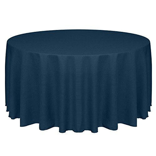 Ultimate Textile Faux Burlap Havana 90 Inch Round Tablecloth Basket Weave Navy Blue Ultimate Textile 90 Inch Round Tablecloth Round Tablecloth