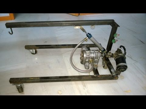 Hydraulic Floor Crane Mechanical Engineering Project Topics Youtube Mechanical Engineering Projects Mechanical Engineering Design Mechanical Projects