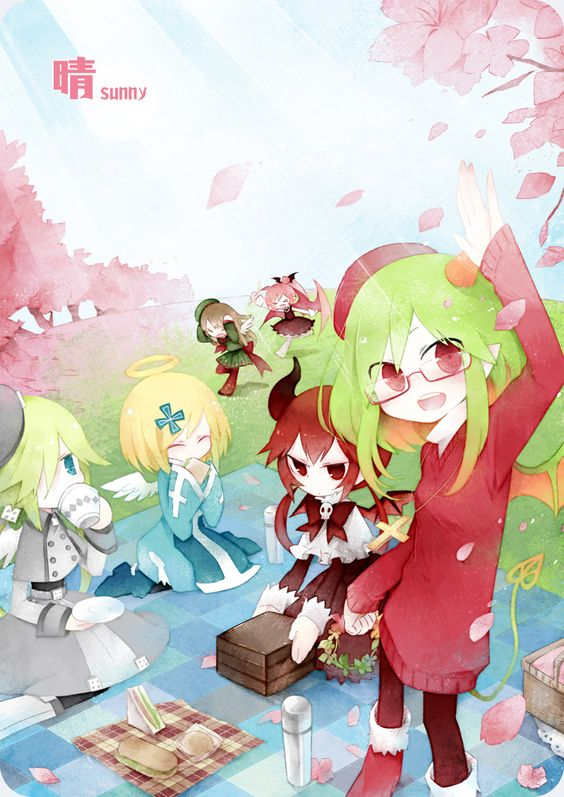 The Gray Garden <3 | Artist: wasteWu - this art is adorable! I love it!