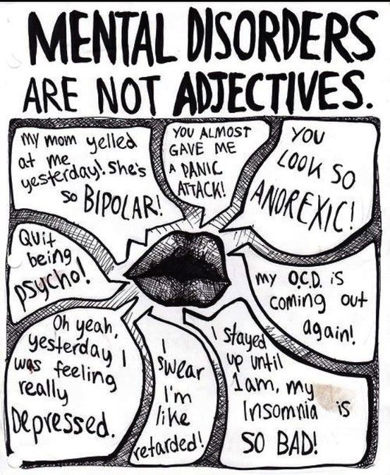Labeling: Mental illness is definitely something labeled in society. Sometimes people refer to individuals with mental illness as being