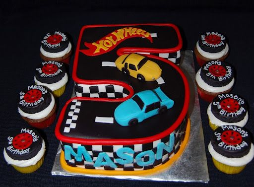 Hot Wheels cupcakes...love the cupcakes