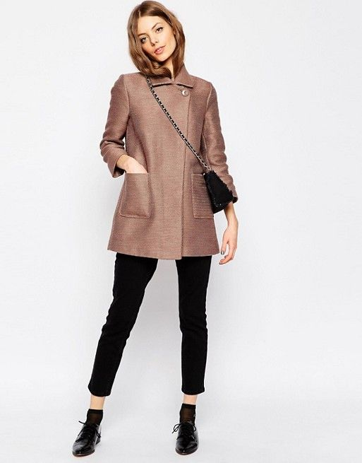ASOS Petite | ASOS PETITE Car Coat with Texture
