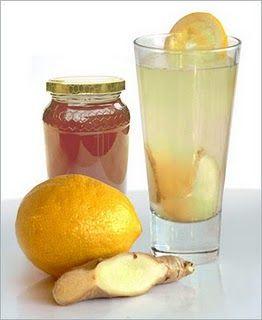 Honey, Lemon, Ginger, Cinnamon, Garlic tea.  Actually tastes good and it works!