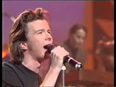 Rick Astley Cry For Help Live On Tv Hq Rick Astley Rick Rick Rolled