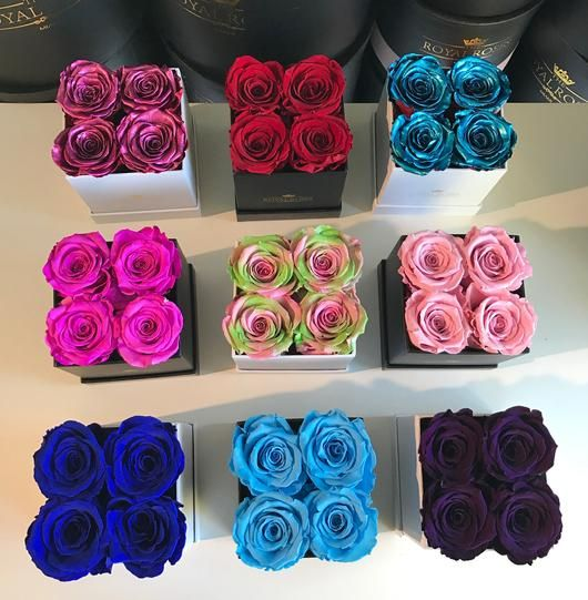 Mini Square Long Lasting Rose Box Lifetime Is Over 1 Year Rose Boutique Rose Flower Delivery