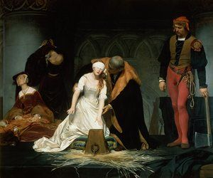 The Execution of Lady Jane Grey in the Tower of London in 1553 (1833) by Paul Delaroch