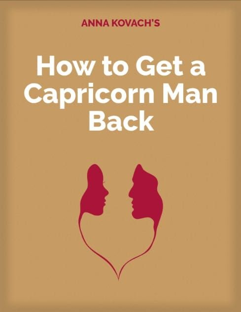 Capricorn man acting distant
