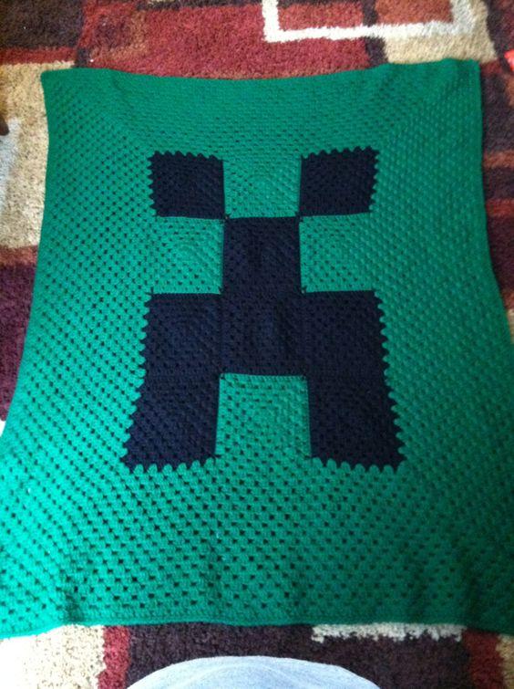 Minecraft Crochet Afghan Pattern Free : Minecraft Crochet Blanket. Crochet and Knit Pinterest ...