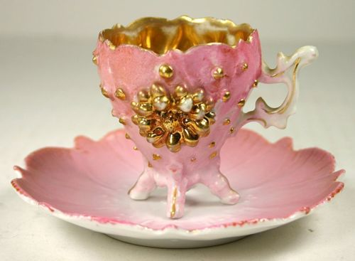 Pink and gold...whatever I drink in this cup I will love!