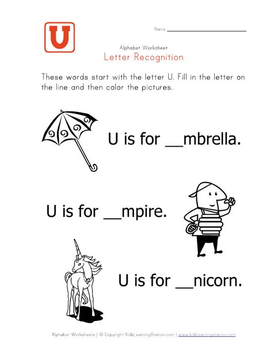 Printables U Words For Kids words that start with the letter u things kid related complete and then color pictures this fun worksheet is part of a full set alphabet pages