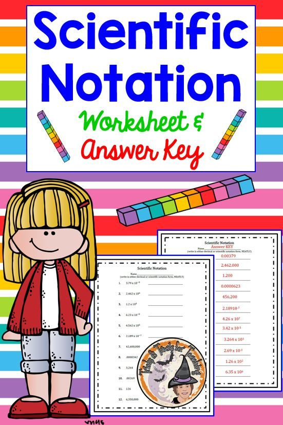 Scientific Notation Worksheet And Answer Key Scientific Notation Worksheet Scientific Notation Notations Scientific notation worksheet answer key