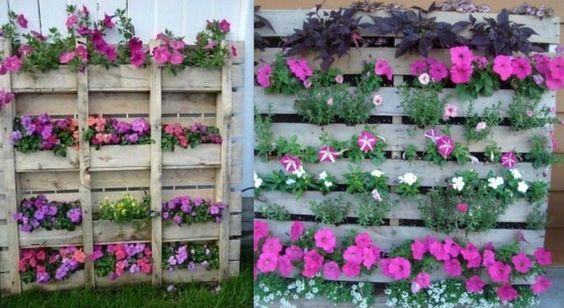 Avec une palette enti re agr ment e de fleurs vous pouvez ais ment embellir - Transformer une palette ...