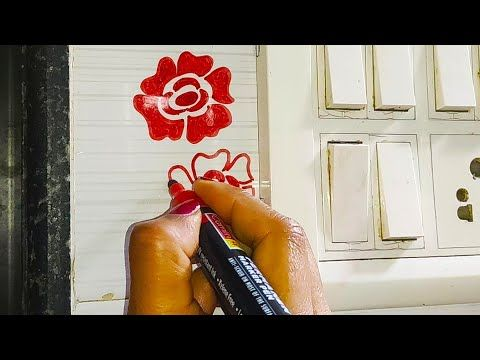 Flower Switchboard Painting Ideas Switchboard Painting Step By Step Easy Switchboard Art Youtube In 2020 Wall Paint Designs Step By Step Painting Paint