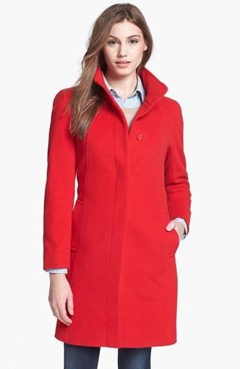 Cinzia Rocca Stand Collar Wool & Cashmere Blend Walking Coat (Petite) | Nordstrom