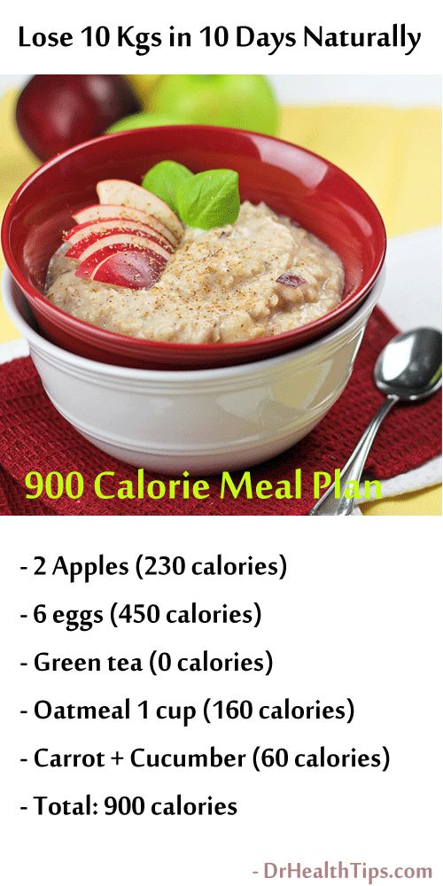 900 calorie weight loss meal plan: