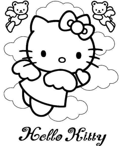 Pin By Aissa Tahri On Ceiling Design Bedroom In 2020 Hello Kitty Coloring Kitty Coloring Hello Kitty Colouring Pages