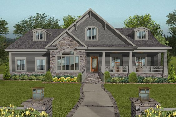 House Plan 036 00259 Ranch Plan 2 234 Square Feet 4 Bedrooms 3 Bathrooms Craftsman Style House Plans New House Plans Craftsman House
