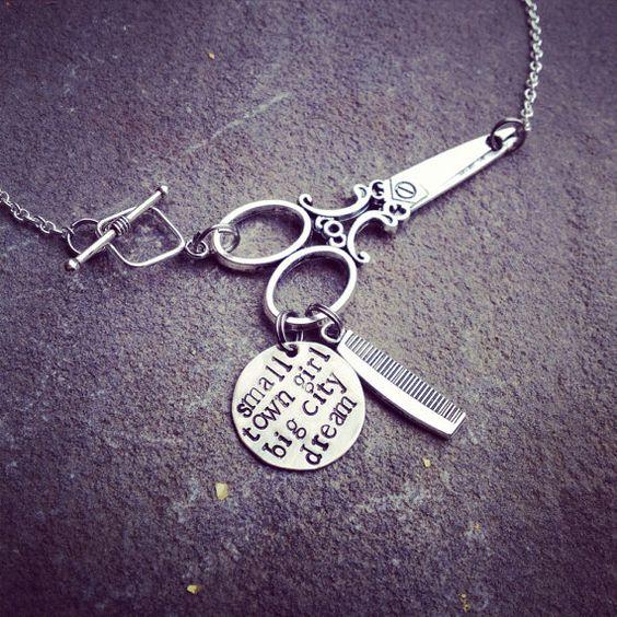 personalized hand stamped scissors necklace by SoBeautifullyBroken @meghanlaine  @loriterry