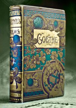 What an amazing book cover! Goethe's Poems (1874)