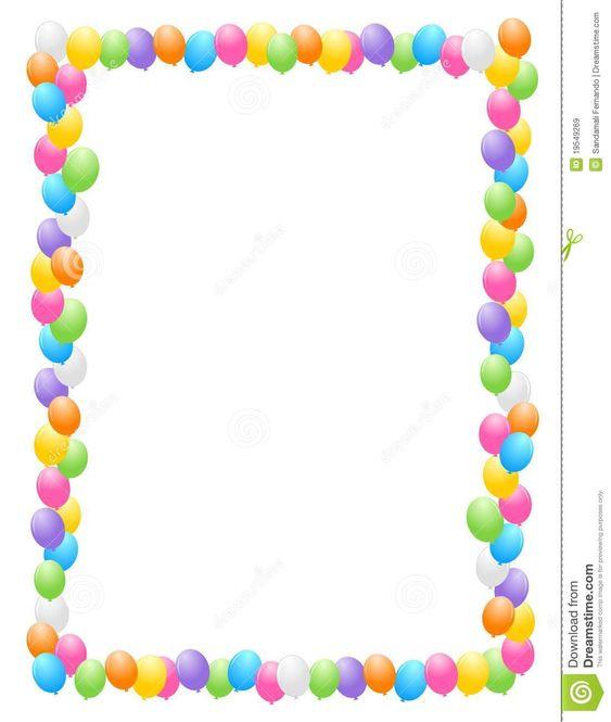 free clip art borders balloons - photo #38