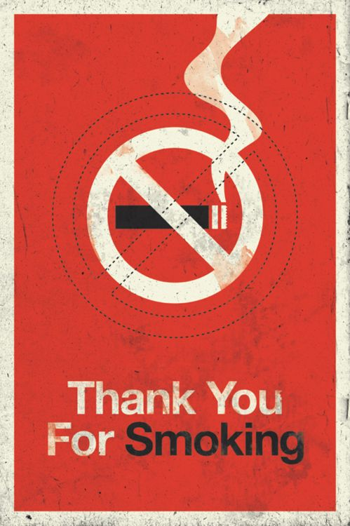 Thank you for smokingby matt chase