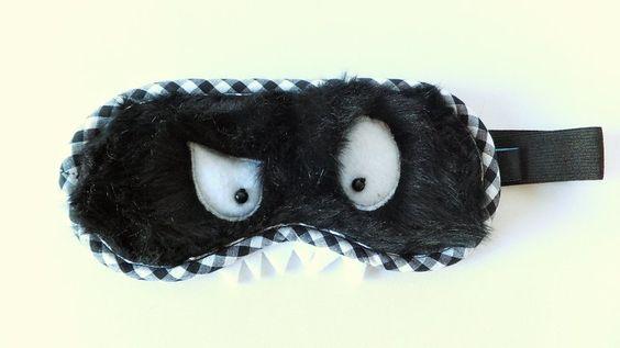 Monster Schlafmaske schwarz von Sofeinsein auf DaWanda.com