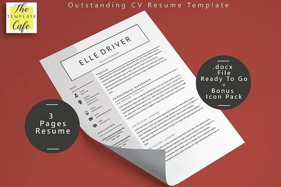 Simple Elegant Word Resume Template by The Template Cafe on - resume te