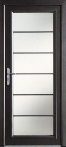 Porte aluminium, Porte entree, Bel'm, Contemporaine, Poignee plaque gris deco bel'm, Grand vitrage, Double vitrage sable, Isolation phonique, Luminosite, Lotus