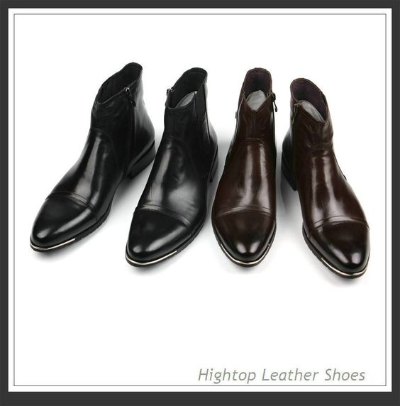 Free shipping new 2014 men's genuine boots,ankle boots,brief fashion style,sip-on,round toe,black/wine-red,38-44 $447.50
