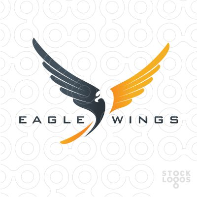 Exclusive Customizable Logo For Sale: Eagle Wings
