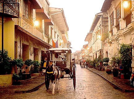 Vigan, Philippines.  A World Heritage Site preserving the architecture of the Spanish colonial era.
