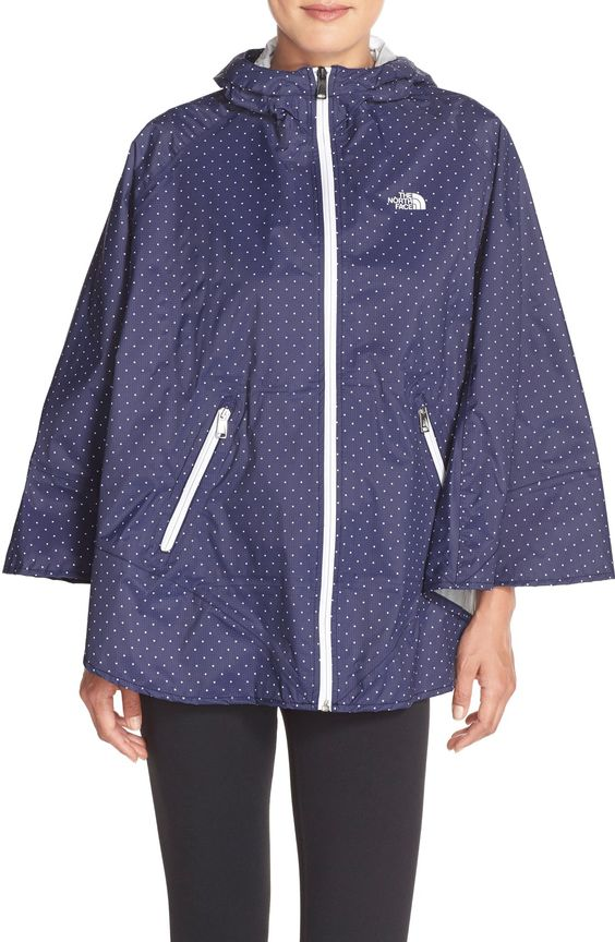 North Face hooded poncho