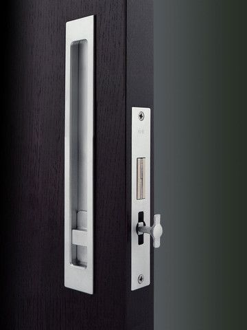Master bath pocket sliding door hb 695 pocket door - Interior door privacy mortise lock ...