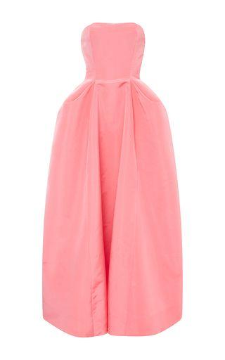 Silk Pleat Detail Ball Gown by OSCAR DE LA RENTA Now Available on Moda Operandi