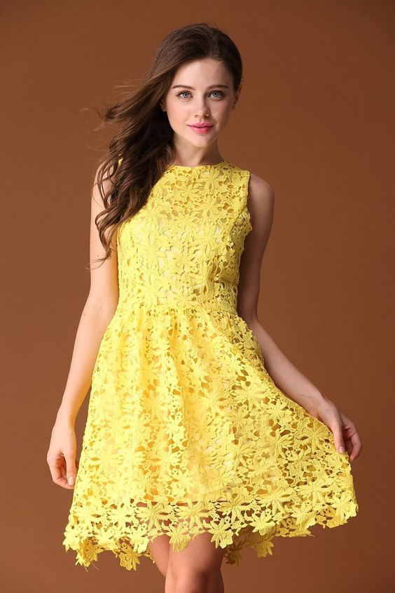 the gallery for gt yellow lace dresses
