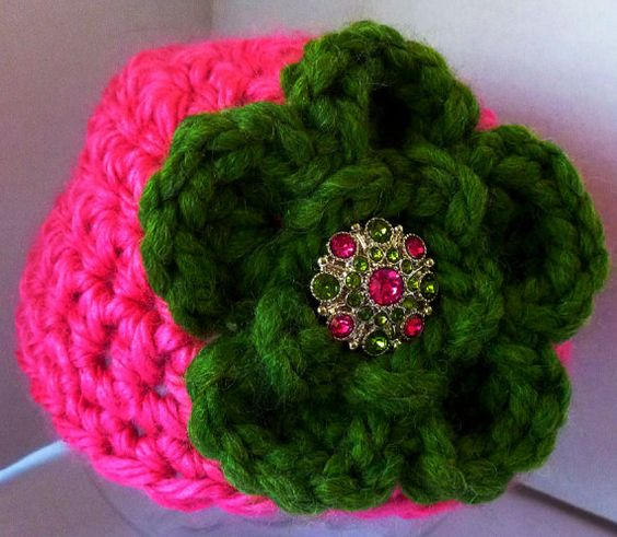 Baby Girl Hat Toddler Girl Hat Crochet Chunky by ZenGardenCrochet