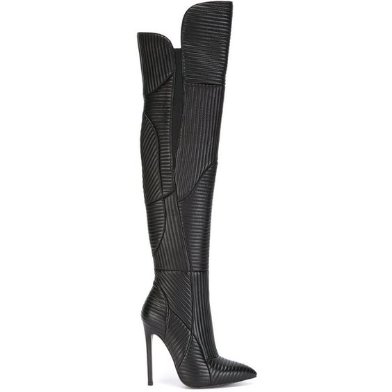 christian louboutin thigh high boots polyvore | Landenberg ...