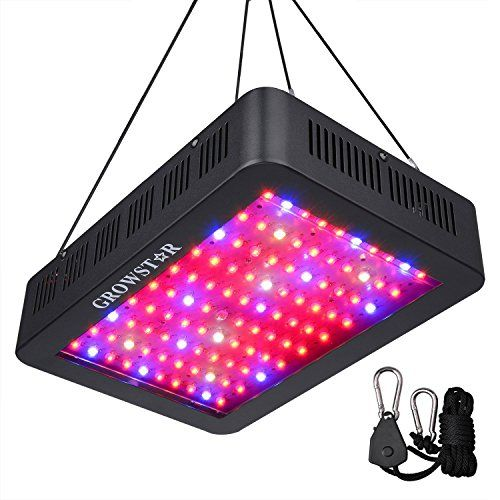 1000w Led Grow Light Growstar Double Chips Led Grow Lamp Full Spectrum For Hydroponic Indoor Plants Flower And Veg With Uv Ir Daisy Chain 12 Band Review Led Grow Lights Best Led
